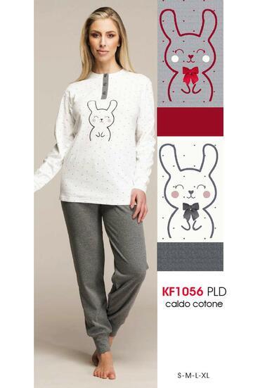 Pigiama donna in cotone caldo Karelpiu' KF1056 - CIAM Centro Ingrosso Abbigliamento
