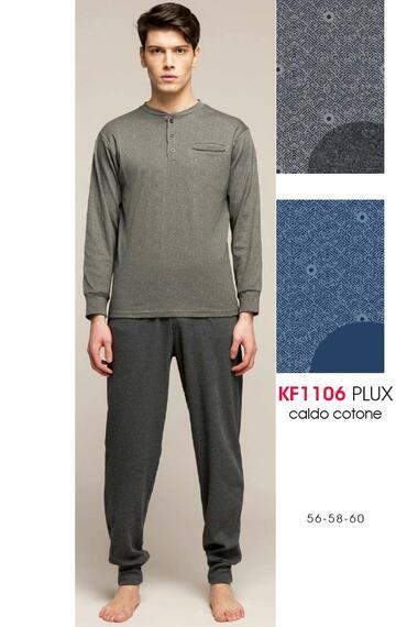 Pigiama uomo calibrato in cotone caldo Karelpiu' KF1106 - CIAM Centro Ingrosso Abbigliamento
