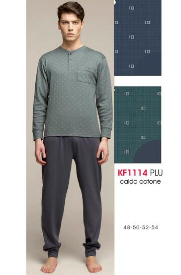 Pigiama uomo in jersey di cotone caldo Karelpiu' KF1114 - CIAM Centro Ingrosso Abbigliamento