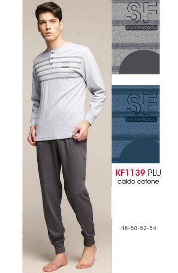 Pigiama uomo in cotone caldo Karelpiu' KF1139 - CIAM Centro Ingrosso Abbigliamento
