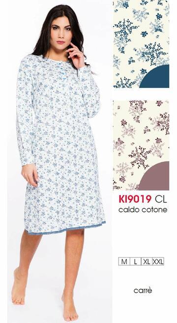 Ki9019 camicia ml notte int.donna - CIAM Centro Ingrosso Abbigliamento
