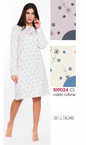 Ki9024 camicia ml notte int.donna - CIAM Centro Ingrosso Abbigliamento