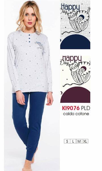Ki9076 pigiama ml interl.donna - CIAM Centro Ingrosso Abbigliamento