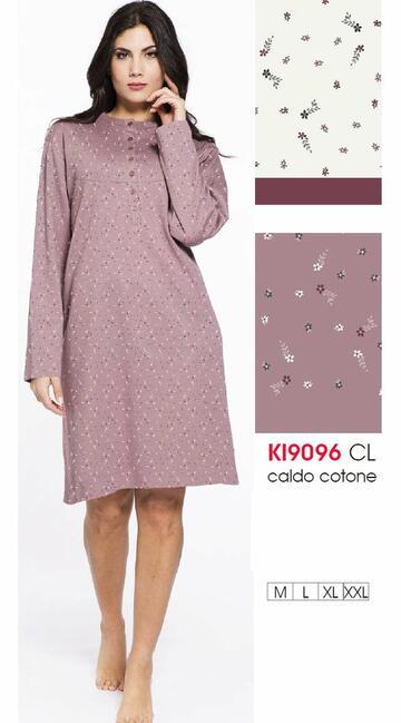 Ki9096 camicia ml notte int.donna - CIAM Centro Ingrosso Abbigliamento