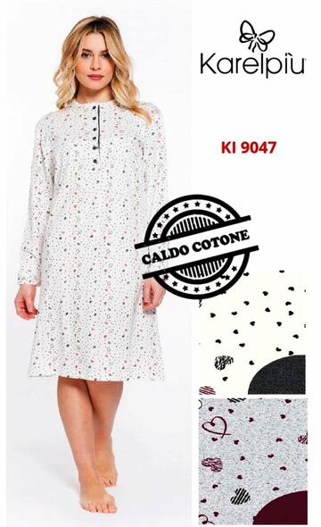 Ki9047 camicia ml notte int. donna - CIAM Centro Ingrosso Abbigliamento