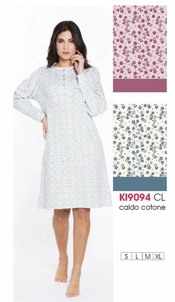 Ki9094 camicia ml notte int.donna - CIAM Centro Ingrosso Abbigliamento