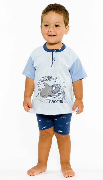Pigiama neonato corto in cotone Gary L15035 - CIAM Centro Ingrosso Abbigliamento