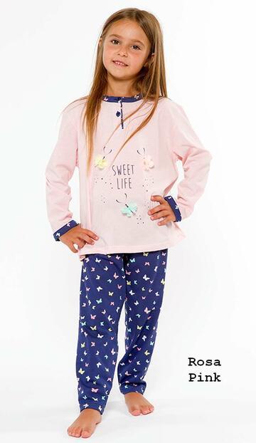Pigiama bambina in cotone Gary L20004 - CIAM Centro Ingrosso Abbigliamento