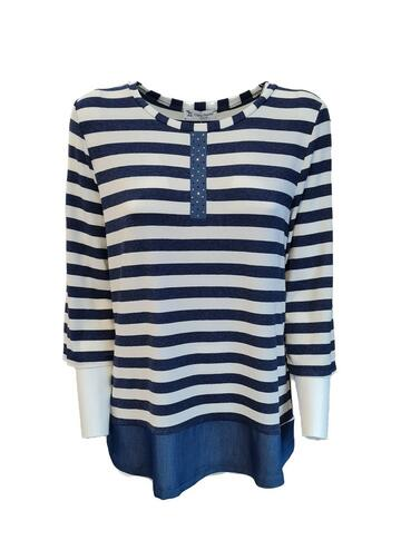 MAGLIA DONNA A RIGHE MA121820 CLARIN SHAVIEN - CIAM Centro Ingrosso Abbigliamento