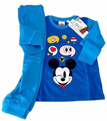 Pigiama bambino manica lunga in cotone Mickey Mouse 643 - CIAM Centro Ingrosso Abbigliamento