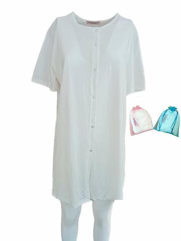 Camicia da notte per partoriente a manica corta Fiorenza Amadori - CIAM Centro Ingrosso Abbigliamento