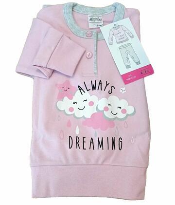 Pigiama da neonata in CALDO cotone Martellina NM10100 - CIAM Centro Ingrosso Abbigliamento