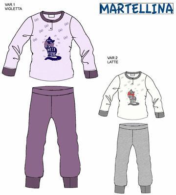 Pigiama da bambina in CALDO cotone Martellina NM20150 - CIAM Centro Ingrosso Abbigliamento