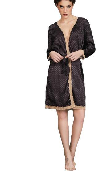 Kimono donna in raso setificato con pizzo Pura P0479 - CIAM Centro Ingrosso Abbigliamento