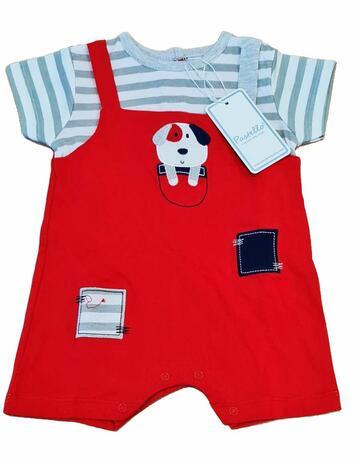 Pagliaccetto in cotone neonato Pastello PA0013Y - CIAM Centro Ingrosso Abbigliamento