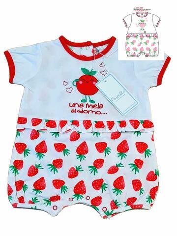 Pagliaccetto in cotone neonato Pastello PA03Y - CIAM Centro Ingrosso Abbigliamento