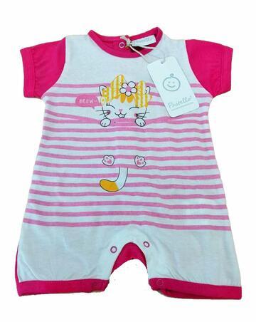 Pagliaccetto in cotone neonato Pastello PA21Y - CIAM Centro Ingrosso Abbigliamento