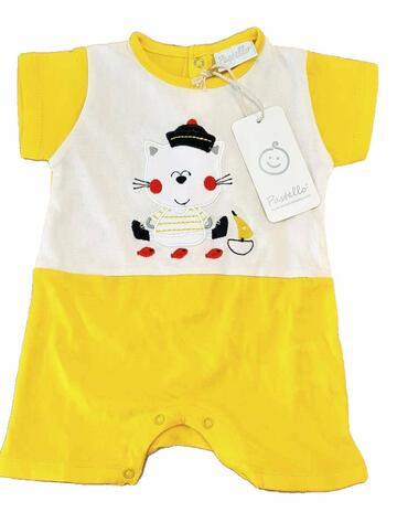 Pagliaccetto in cotone neonato Pastello PA30Y - CIAM Centro Ingrosso Abbigliamento