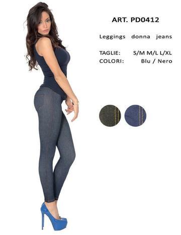 Leggings donna effetto jeans Gladys PD0412 - CIAM Centro Ingrosso Abbigliamento