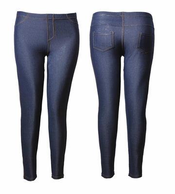Leggings donna conformata felpata effetto jeans Gladys PD0606 - CIAM Centro Ingrosso Abbigliamento