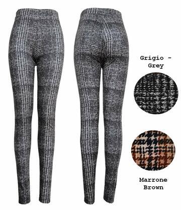 Leggings moda donna in jersey pesante fantasia Gladys PD1288 - CIAM Centro Ingrosso Abbigliamento