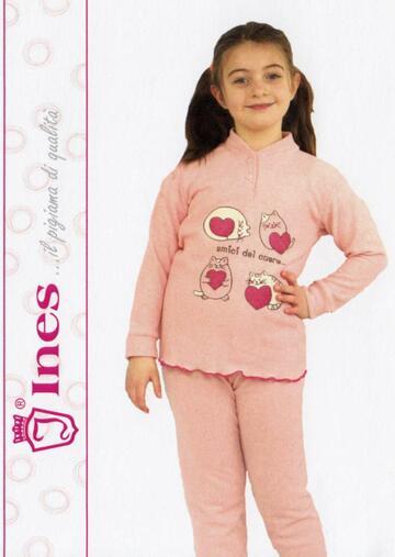 Pigiama da bambina in CALDO cotone Ines PG 3157 - CIAM Centro Ingrosso Abbigliamento