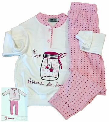 Pigiama da bambina in CALDO cotone Ines PG 3168 - CIAM Centro Ingrosso Abbigliamento