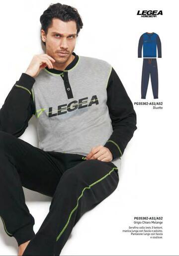 Pigiama uomo in cotone caldo Legea PG35362 - CIAM Centro Ingrosso Abbigliamento