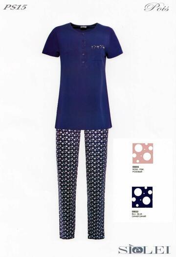 Pigiama donna in cotone SieLei Pois PS15 - CIAM Centro Ingrosso Abbigliamento