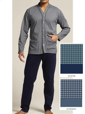 5983 4-7 pigiama ml serafino uomo - CIAM Centro Ingrosso Abbigliamento