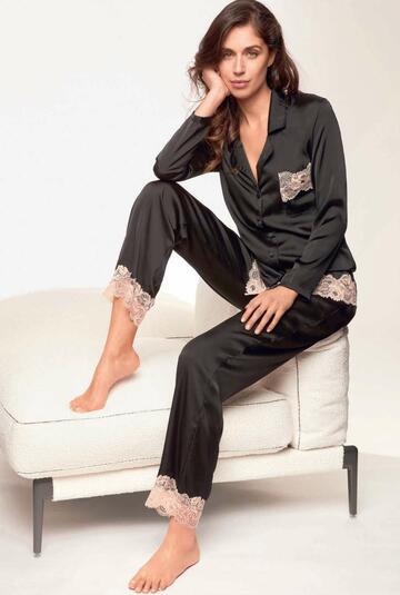 Pigiama donna con giacca in raso Lormar Saten SAT0957 - CIAM Centro Ingrosso Abbigliamento