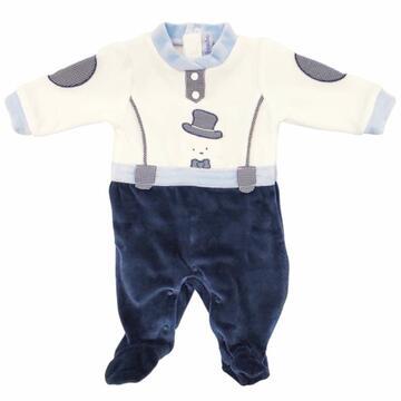 Tutina in ciniglia da neonato Bidibimbo T1610 - CIAM Centro Ingrosso Abbigliamento