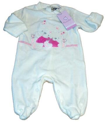 Tutina in ciniglia neonato Pastello TC31Z - CIAM Centro Ingrosso Abbigliamento