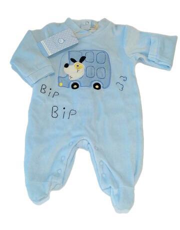 Tutina in ciniglia neonato Pastello TC34Z - CIAM Centro Ingrosso Abbigliamento
