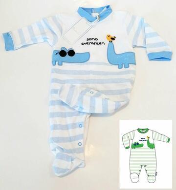 Tutina in cotone neonato Pastello TJ0012Y - CIAM Centro Ingrosso Abbigliamento
