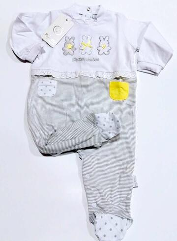 Tutina neonato in jersey di cotone Pastello TJ11M - CIAM Centro Ingrosso Abbigliamento