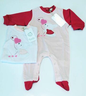 Tutina da neonato in jersey di cotone Pastello TJ22Y - CIAM Centro Ingrosso Abbigliamento