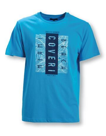 T-SHIRT UOMO STAMPATA IN COTONE TJ2438 COVERI - CIAM Centro Ingrosso Abbigliamento