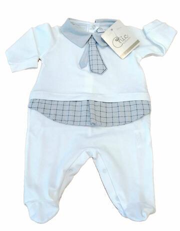 Tutina in cotone neonato Pastello TJ47Y - CIAM Centro Ingrosso Abbigliamento