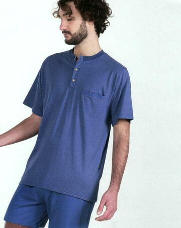 Pigiama uomo corto in cotone Stella2G U8154 - CIAM Centro Ingrosso Abbigliamento
