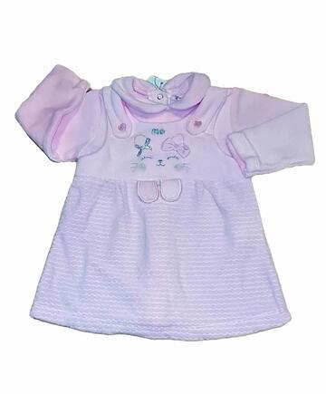 Vestitino in ciniglia neonato Pastello VM5Z - CIAM Centro Ingrosso Abbigliamento