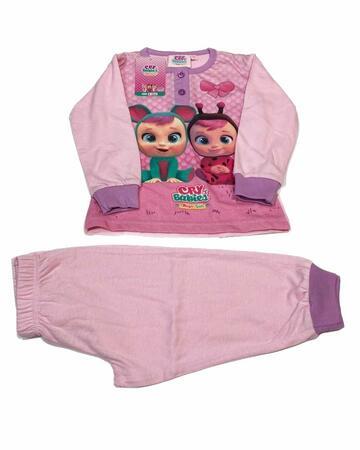 Pigiama bambina a manica lunga in cotone Cry Babies CRY21-0500 - CIAM Centro Ingrosso Abbigliamento