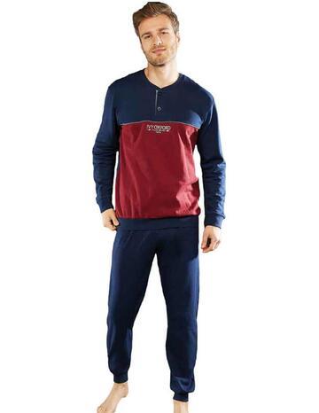 Pigiama uomo in felpa di cotone Ivy Oxford IVYP FLS2 - CIAM Centro Ingrosso Abbigliamento