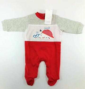 Tutina neonato in cotone Pastello TJ31Y - CIAM Centro Ingrosso Abbigliamento