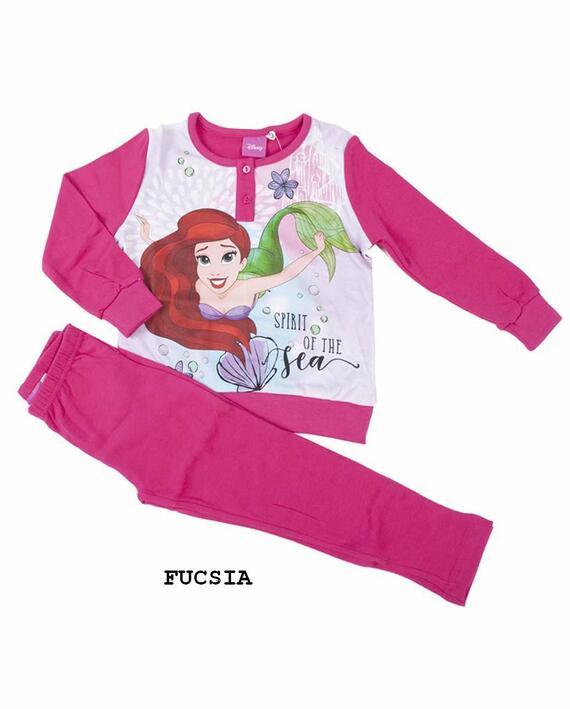 Pigiama da bambina in CALDO cotone Disney Principesse PRI-0024