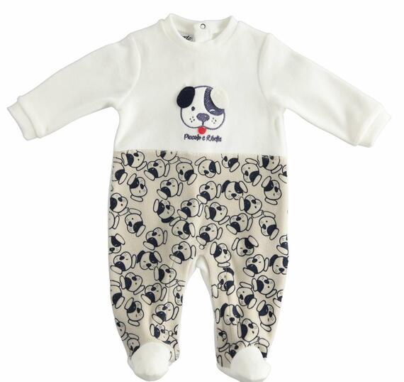 Tutina da neonato in ciniglia Mignolo 23227