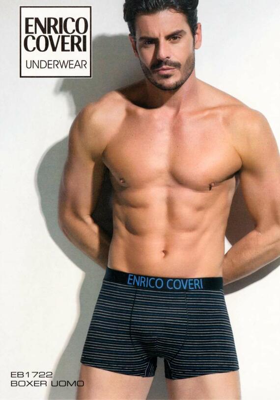 Boxer uomo moda in cotone elasticizzato Enrico Coveri EB1722