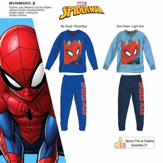 Pigiama da bambino in CALDO cotone Marvel Spiderman MV40M4603