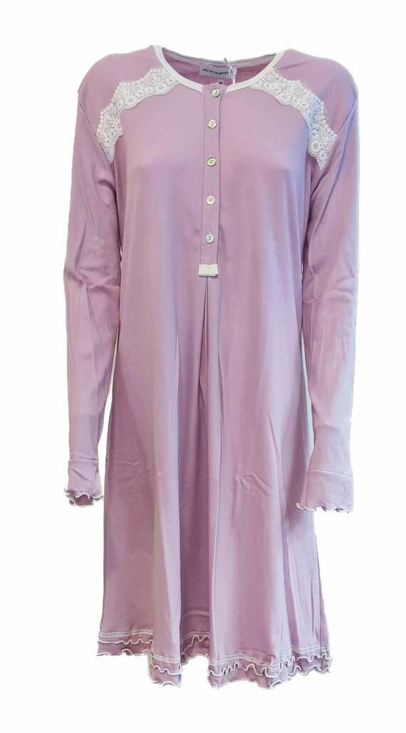 Camicia da notte donna cotone Fiorenza Amadori Stella